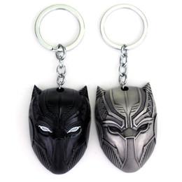 Film Black Panther Keychain Superhero Figur Anime Coole Zink-Legierung Autoschlüssel Ring für Männer Auto Tasche Schmuck