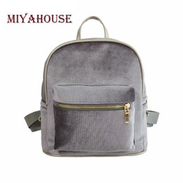 $enCountryForm.capitalKeyWord Canada - Miyahouse Korean Style Velour Backpack Women Small Backpack Candy Color Travel Rucksack For Girls Mini School Backpacks