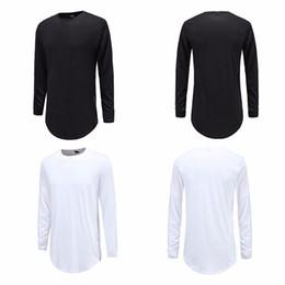 $enCountryForm.capitalKeyWord Australia - Zipper Street Wear T Shirt Men Extend Swag Side Zip T Shirt Super Longline Long Sleeve T-Shirts with Curve Hem and Zip Solid