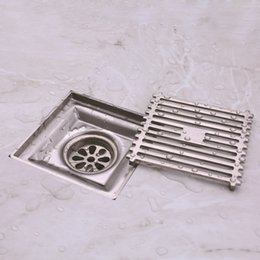$enCountryForm.capitalKeyWord NZ - 304 Stainless Steel The Floor Drains Shower Room Supplies Square Wire Drawing Bath Drainer Tile Insert High Quality 32kd Ww