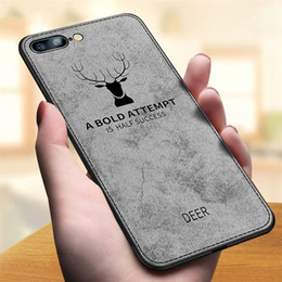 vintage apple fabric UK - For Huawei P20 P20 Pro P20 Lite Honor 8x iPhone x Soft Silicone Cover Fabric Vintage Deer Cover Shockproof Hard Back Phone Case