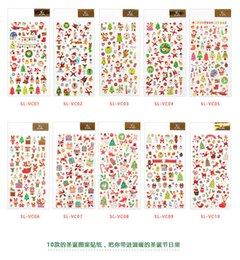 Christmas Suits For Kids NZ - 2018 Christmas Cartoon Sticker Santa Claus Wall Stickers Christmas Tree Snowman gift Paster Kindergarten Reward for kids Children PVC