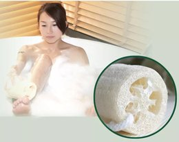 natural scrubber loofah wholesale Canada - Bath Body Shower Loofah Sponge Scrubber Natural Luffa Loofa Bathing Massage Brushes Exfoliating shower Loofa Mesh Sponge
