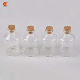 Glasses For Weddings Australia - 45ml Transparency Glass Bottle With Corks For Wedding Holiday Decoration Christmas Jars Gifts Cute bottle Corks Cap 12pcs
