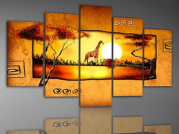 $enCountryForm.capitalKeyWord Australia - handmade abstract african landscape sunset painting oil canvas art modern wall canvas art canvas oil paintings bedroom best painting quality