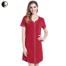 2016 nuove donne casual da notte 5 colori più grandi dimensioni XL ~ 3XL Camicia da notte di cotone Sleepwear Dress G-String AP348 in Offerta