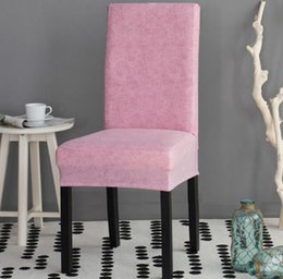 Solid Color Dining Room Chair Cover Spandex Stretch Polyester Seat Anti Dirty Protective Case For Wedding Party Restaurant