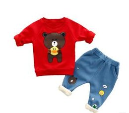 12e2057ef BaBy Boy Bear winter suit online shopping - 2018 New baby suit kids boys  girls clothes