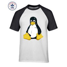 $enCountryForm.capitalKeyWord UK - 2017 Fashion Summer Style Black footed penguin LINUX Cotton Funny T Shirt for men