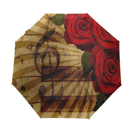 $enCountryForm.capitalKeyWord UK - Abstract Rose Music Customized Design Automatic Folding Umbrella Women's Umbrella rain women guarda chuva parapluie