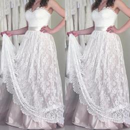 Ivory Colors Wedding Dresses NZ - 2019 Plus Size Wedding Dresses Vintage Lace Sweetheart Sleeveless Appliques Hem Long Bridal Gowns with Sash Custom Colors