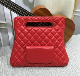 $enCountryForm.capitalKeyWord NZ - Red soft lambskin Handbag Fold Over Clutch Bag Women Large Hand Tote Bag 2018 Fashion Genuine Leather purse