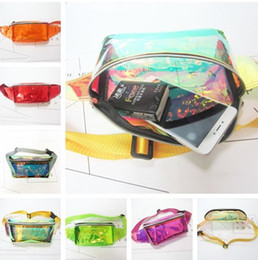 $enCountryForm.capitalKeyWord NZ - Clear Laser Waist Bag Unisex Women Fanny Packs Waterproof hologram PVC Beach Travel Belt Bag Shoulder Bags waistpack Cosmetic bag purse