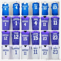Skal Labissiere 4 Rajon Rondo 11 John Wall 12 Karl Anthony Towns 15  DeMarcus Cousins 23 Anthony Davis College Jersey 5a4fbbdd6
