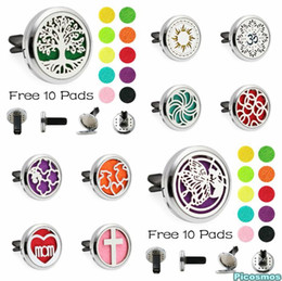 Car Incense NZ - Cars Car outlet perfume alloy Essential Oil Car Diffuser Locket Vent Clip Aromatherapy Essential Oil Diffuser Car Deco c764