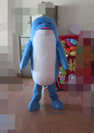 marines costume UK - Dolphin Mascot Costumes Animated theme Marine Museum animal Cospaly Cartoon mascot Character Halloween Carnival party Costume
