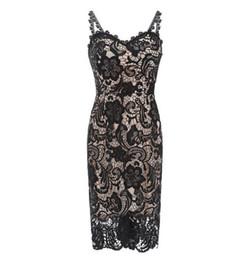 $enCountryForm.capitalKeyWord UK - Lady Graceful Black Lace Pencil Skirts for Pub Party Sexy Fashion Spaghetti Strap Club Skirts s Women Summer Bodycon Dresses