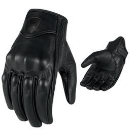 $enCountryForm.capitalKeyWord UK - Men Retro Motorcycle Gloves Breathable Perforated Real Leather Motor Motocross Motorbike Gloves Luva Motoqueiro Guantes Moto
