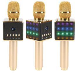 speakers for karaoke 2019 - Karaoke H8 Wireless Bluetooth Speaker Smart Karaoke Microphone Speaker Subwoofer Home KTV for i-os Android TF Card Suppo