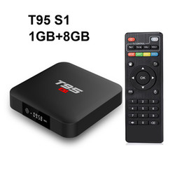 t95 android tv box UK - Original T95 S1 1GB 8GB android 7.1 tv box S905W Amlogisc S905W 4k 2.4G Wifi Set Top Box