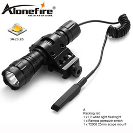 Flash Drive Switch Australia - AloneFire 501Bs CREE L2 Tactical Flashlight LED Torch Flash Light Lantern with Mount Remote Control Pressure Switch