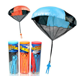 Parachute Toy Wholesale NZ - Children Parachute Kids Games Hand Throw Children Outdoor Soldier with a Parachute Educational Toys 38CM For Kids Toys