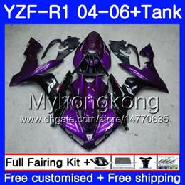 $enCountryForm.capitalKeyWord Australia - Body+Tank For YAMAHA Purple black stock YZF R 1 YZF-1000 YZF 1000 YZFR1 04 05 06 232HM.21 YZF1000 YZF-R1 04 06 YZF R1 2004 2005 2006 Fairing