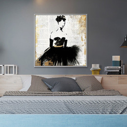 Girls Figure Size Australia - Modern Abstract Hand Painted & HD Print Wall Art Oil Painting Ballet Girl Home Deco On High Quality Canvas Multi Sizes g191