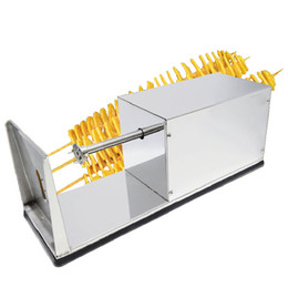 Spiral Slicer Cutter Australia - Qihang_top Electric Stainless Steel Potato Machine Twisted Potato Slicer Spiral Potato Cutter French Fry Cutting Tool