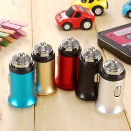 Car Hammer Phone Australia - Private Mould Aluminum Dual USB Car Charger as Safety Hammer 2 Ports 5V 3.1MAX Output 15.5W Mini Portable USB Travel Charger For Smart Phone