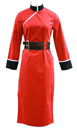 Wholesale gintama cosplay resale online - GINTAMA Cosplay Kagura Costume Womens Red Cheongsam th