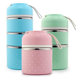Wholesale Cute Lunch Box Japanese Bento Box Leak Proof Stainless Steel Lunch Boxes for Kids Children Adults Office School Students Camping