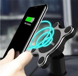 Wholesale Wireless Charger Car Holder Magnetic Car Holder Car Air Vent Mount for iPhone X Android Samsung with Retail Package