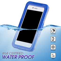 dust waterproof iphone case NZ - 2018 New Arrival IP68 Waterproof Shockproof Dust proof Mobile Phone Case for Samsung Galaxy S8 S8 Plus S9 S9plus iPhone 8 7 6 plus
