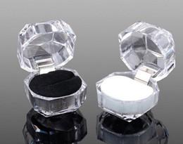 $enCountryForm.capitalKeyWord NZ - 20pcs 3colors Rings Box Jewelry clear Acrylic jewellery Boxes wedding gift box ring stud dust plug box