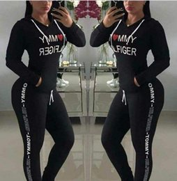 $enCountryForm.capitalKeyWord Canada - New 2018 Hot Sale spring style sweat shirt Print tracksuit women Long Pants Pullover Tops Womens set Women Sport Suits