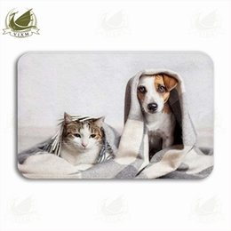 $enCountryForm.capitalKeyWord NZ - Vixm Dogs And Cats Warm Under Blankets In Cold Weather Welcome Door Mat Rugs Flannel Anti-slip Entrance Indoor Kitchen Bath Carpet