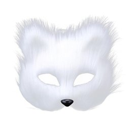 $enCountryForm.capitalKeyWord UK - Fox Head Masquerade Mask Wool Carnival Mask Men Women Fancy Dress Masked Ball for Halloween Party Cosplay Supplier