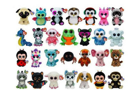 Ty Beanie Boos Wholesale Canada - Ty Beanie Boos Plush Stuffed Toys Wholesale Big Eyes Animals Soft Dolls for Kids Birthday Gifts