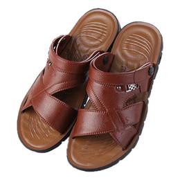 Vietnam White NZ - 2018 Summer Adult Men's Explosions Vietnam Beach Sandals Soft Bottom Non-slip Outdoor Casual Flat With Breathable Sandals