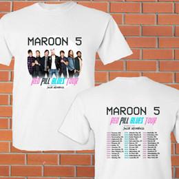 $enCountryForm.capitalKeyWord Canada - Maroon 5 Red Pill Blues summer tour 2018 white tee shirt S-3XL Summer Style Hip Hop Men T-Shirt Tops 2018 New Arrival Men
