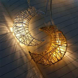 Decoration Birthday Party Room NZ - Kids Room Decoration Wire Light String Gold Silver Moon Festival Christmas Birthday Party Girl Room Decoration Pendant Gifts