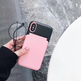$enCountryForm.capitalKeyWord Canada - Flip Cover Mirror Wallet Back Cover Case Lady Women Cosmetic Makeup Phone Shell with Card Slot Holder for iPhone X 6s Samsung S9
