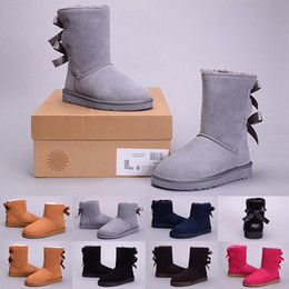 86eb9f02c Original WGG women winter boots chestnut black grey pink designer womens  snow boots ankle knee boot size 5-10 fast shipping