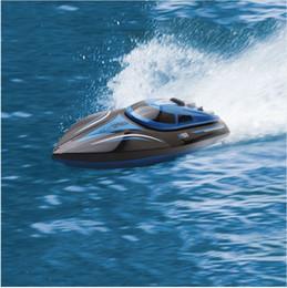 Nouvellement haute vitesse RC bateau H100 2.4GHz 4 canaux 30km / h Racing bateau télécommandé avec écran LCD cadeau pour enfants jouets en Solde