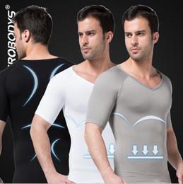 Discount new modal man shirt - Bodysuit men New ZEROBODYS Shapewear Out Door Soprts slimming waist Body Shaper Under Corset Summer Sleeveless Shirt