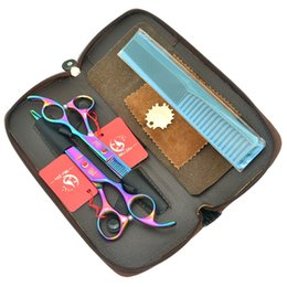 $enCountryForm.capitalKeyWord Australia - 7.0Inch Meisha Colourful Hairdressers Cutting Shears Thinning Scissors Japan 440c Good Quality Big Hair Cut Tool Home or Salon Used HA0367