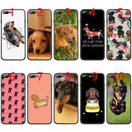 $enCountryForm.capitalKeyWord Australia - Dachshund dog cute Soft Black TPU Phone Case for iPhone XS Max XR 6 6s 7 8 Plus 5 5s SE Cover
