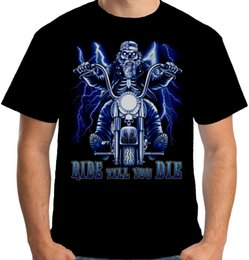 $enCountryForm.capitalKeyWord NZ - Velocitee Mens Ride Till You Die T Shirt Death Bobber Chopper Biker S3711 2018 Short Sleeve Cotton T Shirts Man Clothing