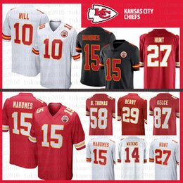 5d9bbe9a3a0 15 Patrick Mahomes II Kansas City Jersey Stitched Chiefs 10 Tyreek Hill 87  Travis Kelce 29 Eric Berry 58 Thomas Houston Watkins Youth Mens